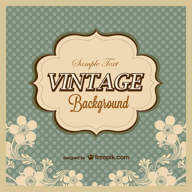 vintage polka dots background template vector free download