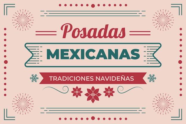 빈티지 Posadas Mexicanas 배경 프리미엄 벡터