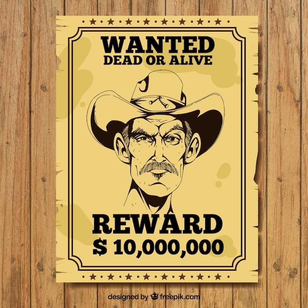 Vintage poster of criminal Free Vector
