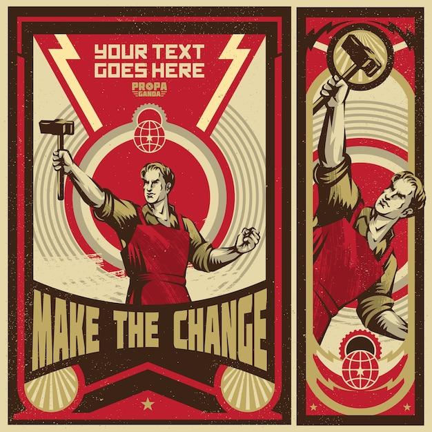 Propaganda Banners Futuristic Banners
