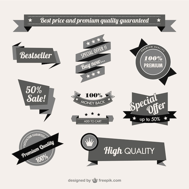 Vintage quality guaranteed banner Vector | Free Download