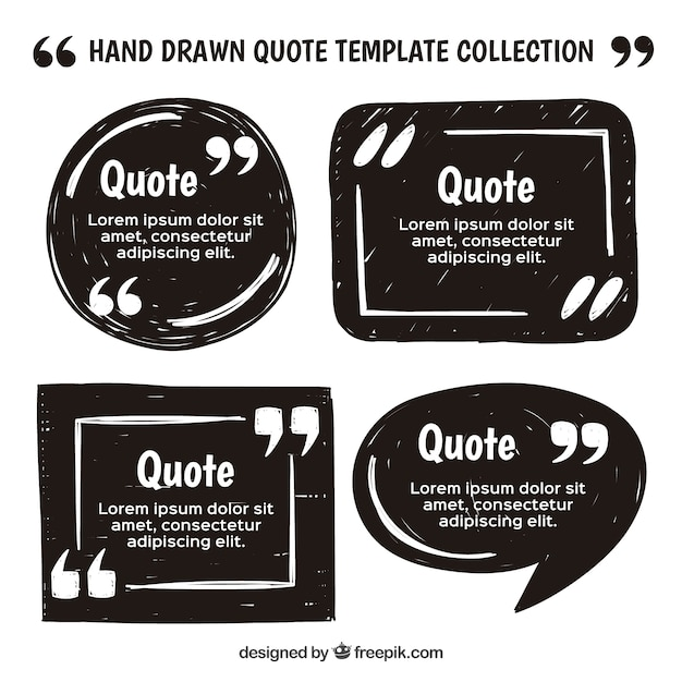 Vintage quote template set  Free Vector