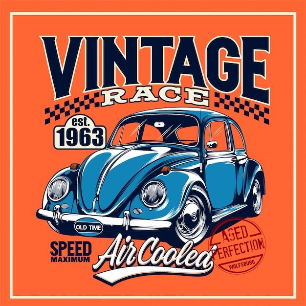 Vintage race  poster Premium Vector