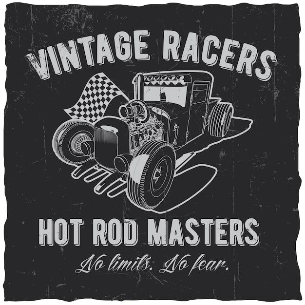 Etichetta vintage racers Vettore gratuito