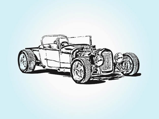 vintage racing car vector vector free download