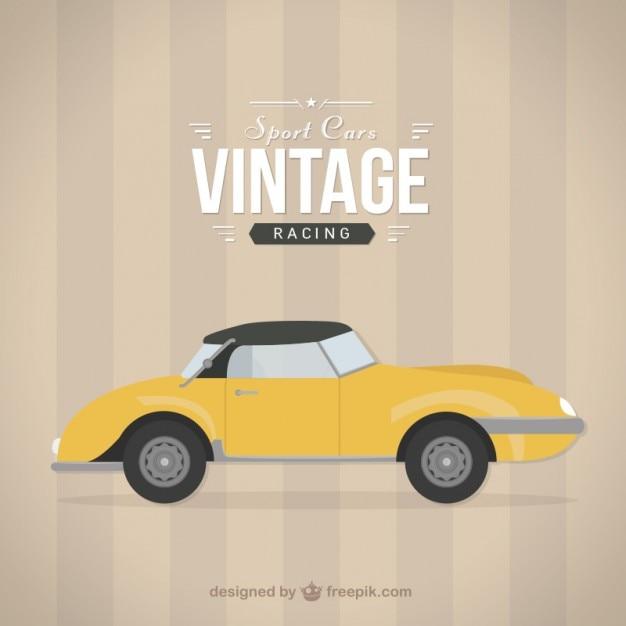 Vintage racing car Free Vector