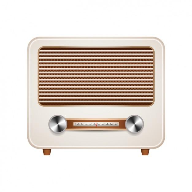 Vintage radio design Free Vector
