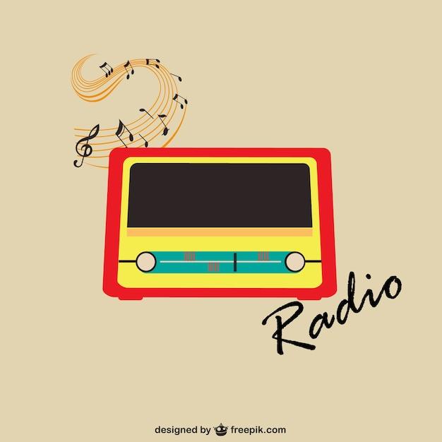 Vintage radio vector V...