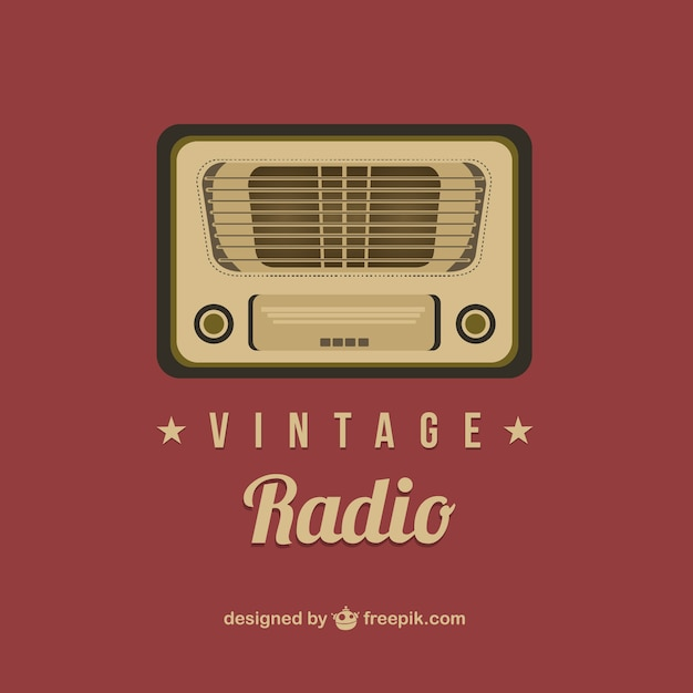 vintage radio vector free download. Black Bedroom Furniture Sets. Home Design Ideas