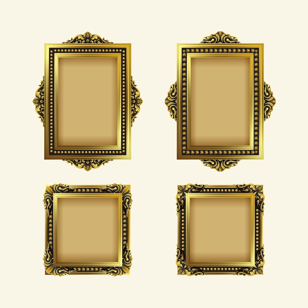 Vintage realistic frame collection Free Vector