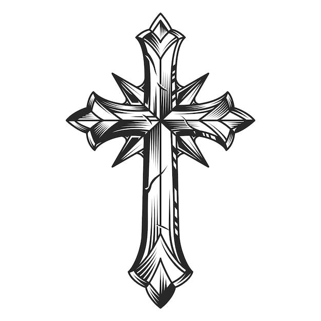 ヴィンテージの宗教的なオリジナルクロステンプレート 無料ベクター