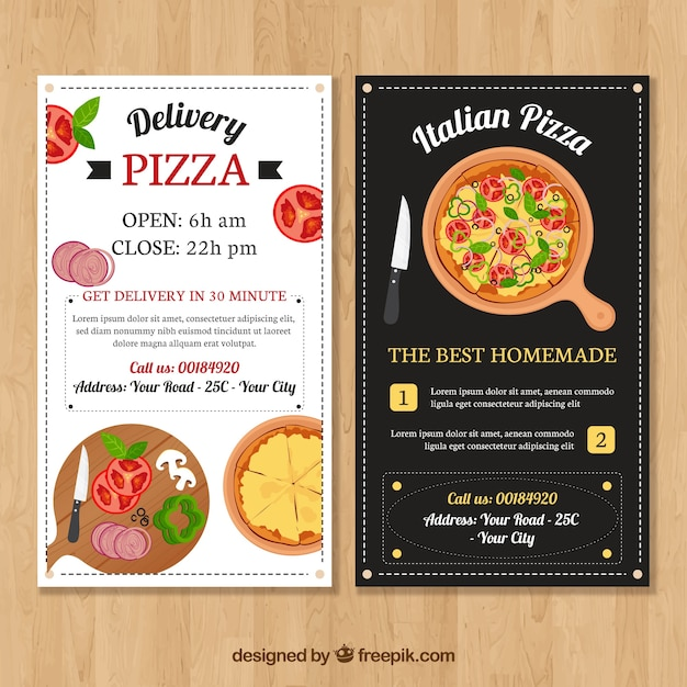 Vintage Restaurant Brochure Of Italian Food Vector Free