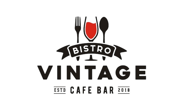 Vintage restaurant logo design Premium Vector