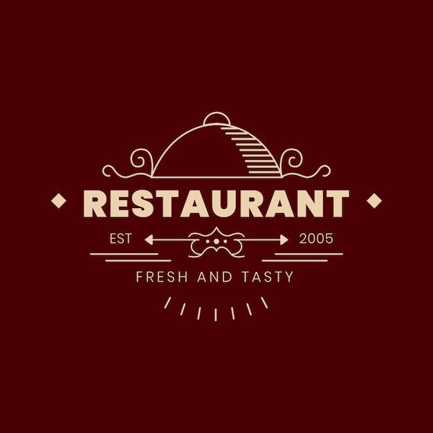 Vintage restaurant logo Free Vector