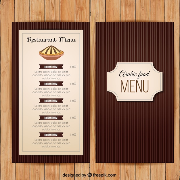 Vintage Restaurant Menu Template Vector  Premium Download