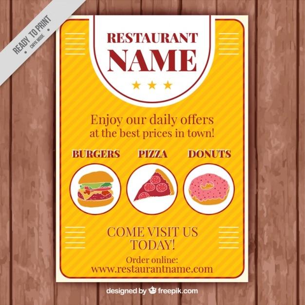 Vintage restaurant menu template Vector – Food Menu Templates Free