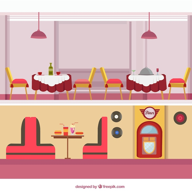 Vintage restaurants pack
