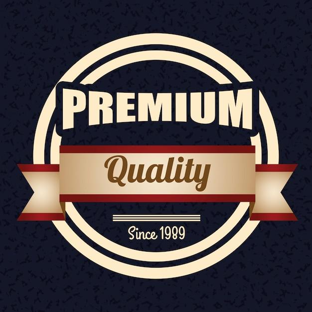 Vintage and retro label design. | Premium Vector