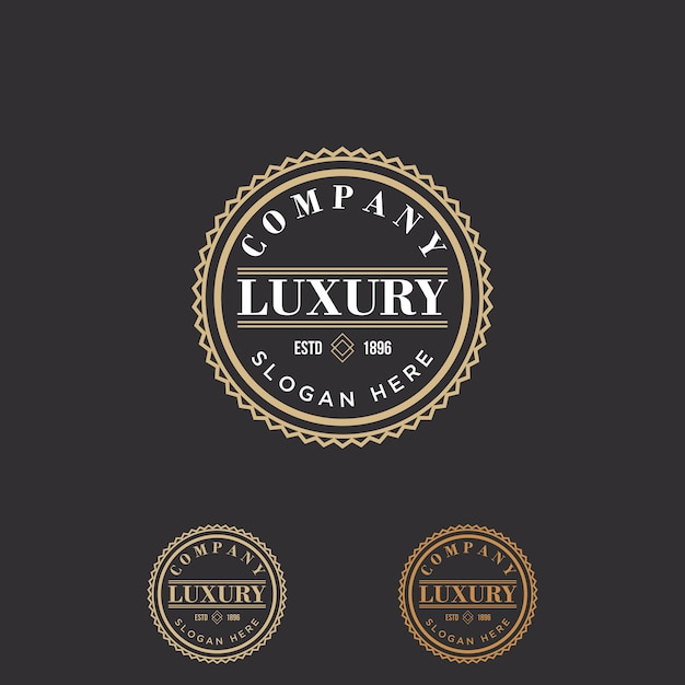 vintage retro logo template vector premium download