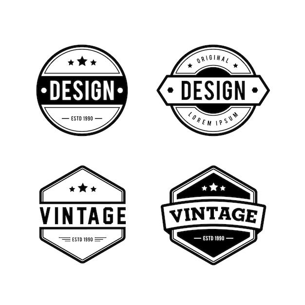 Vintage retro logo   Premium Vector