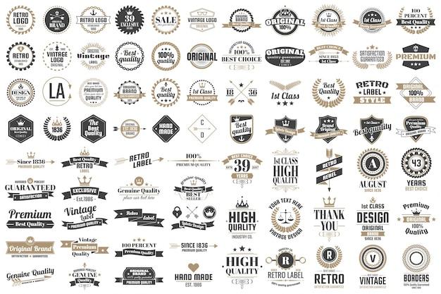 Vintage retro vectorロゴ、バナー、ポスター、전단 Premiumベクター