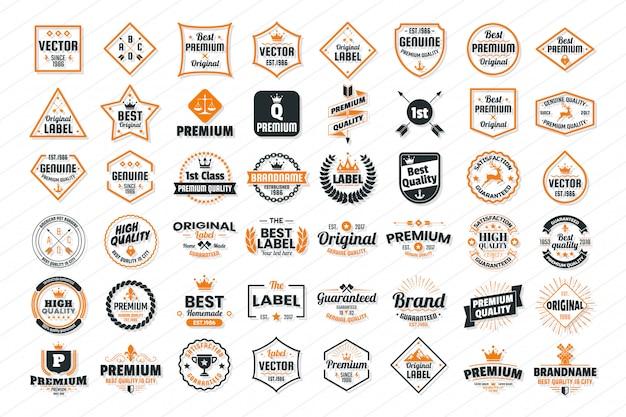 Урожай ретро векторный логотип для баннера, плакат, флаер Premium векторы