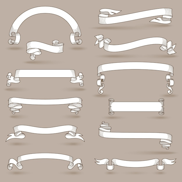 Vintage ribbons set Free Vector
