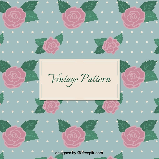 Vintage roses pattern Vector | Free Download