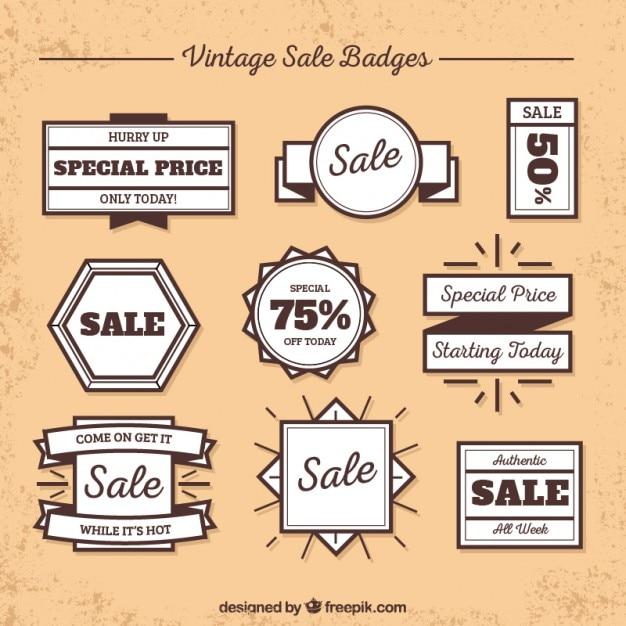 Vintage sale badges