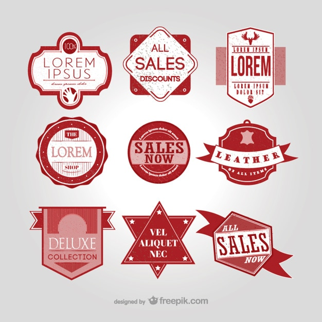 Vintage sales badges pack