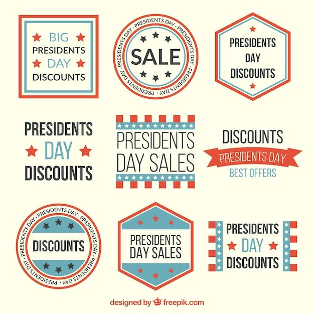Vintage sales badges presidents day pack
