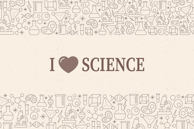 Vintage science background with elements Free Vector