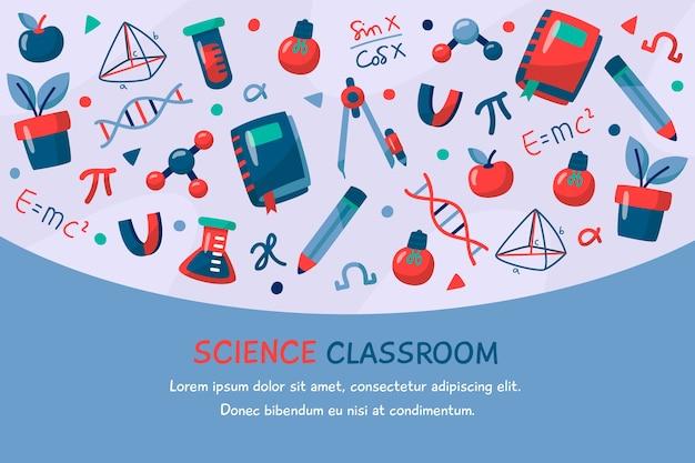 Sfondo di educazione scientifica vintage Vettore gratuito