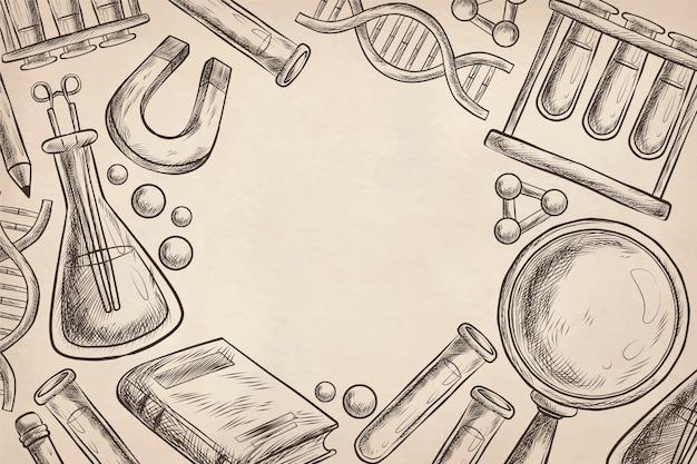 ビンテージ科学教育の背景 無料ベクター