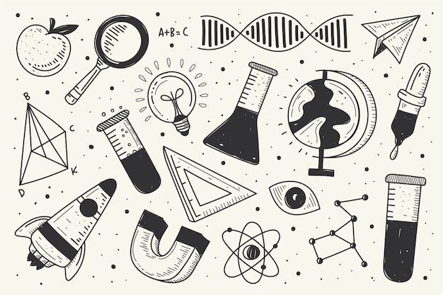 Vintage science education background Free Vector