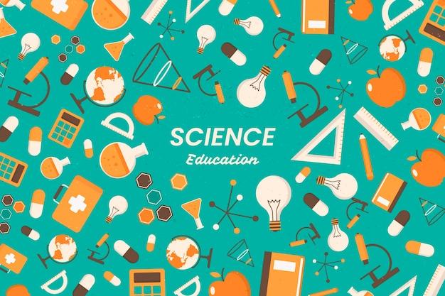ビンテージ科学教育壁紙コンセプト 無料ベクター