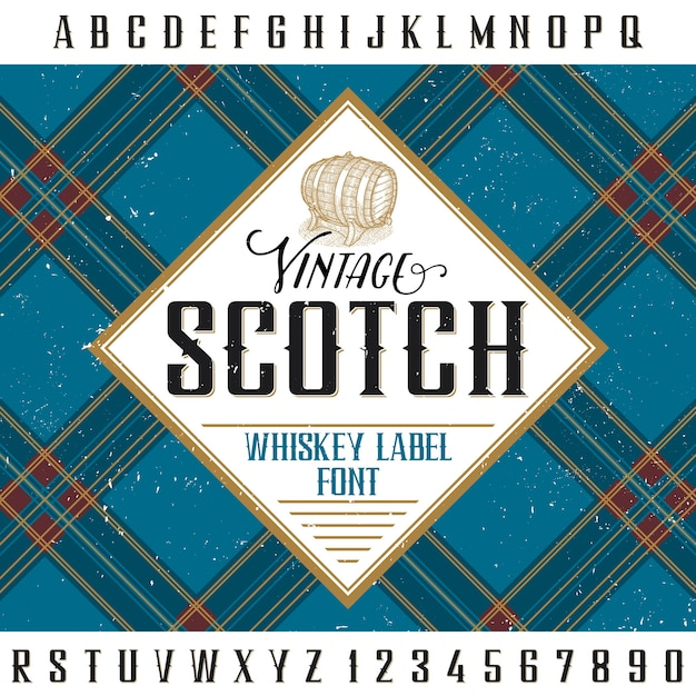 Vintage scotch poster for design and decoration of alcohol drinks Free Vector