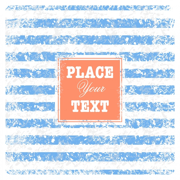 Vintage scrap nautical background with stripes and text Free Vector