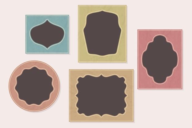 Винтажные рамки для альбомов Premium векторы