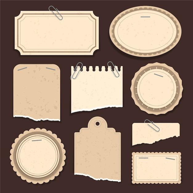 Collezione di carta scrapbook vintage Vettore gratuito