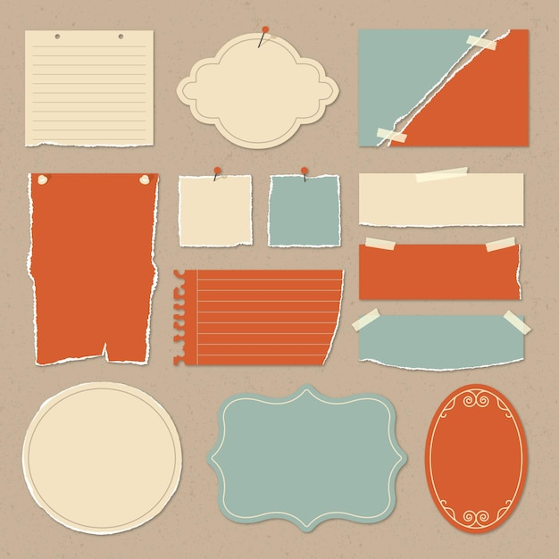 Vintage scrapbook paper collection Premium Vector
