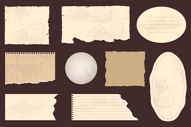 Vintage scrapbook paper collection Free Vector