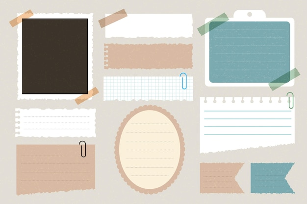 Vintage scrapbook paper collection Free Vector