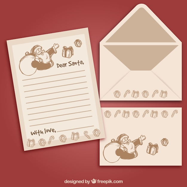 Vintage Set Of Envelopes And A Letter Templates Vector