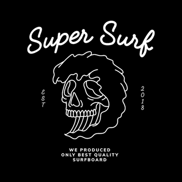 Vintage skull and word design vector Free Vector
