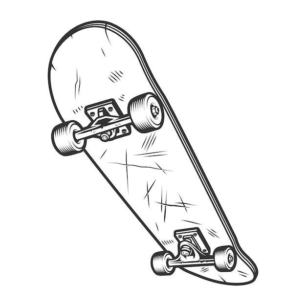 Concetto di skateboard sport vintage Vettore gratuito