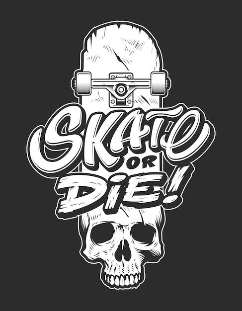 Logo di skateboard sport vintage Vettore gratuito