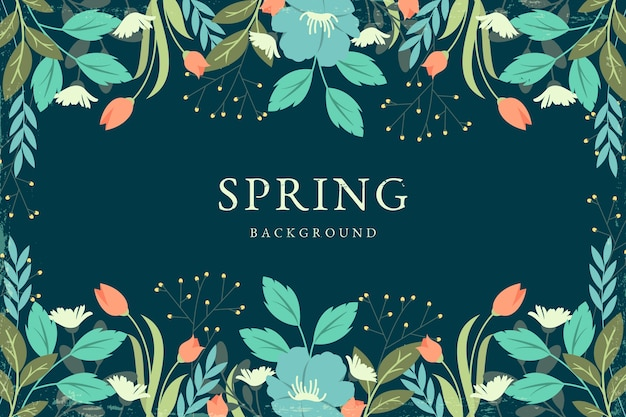 Vintage spring background concept Free Vector