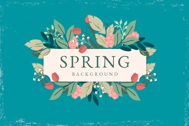 Vintage spring background theme Free Vector