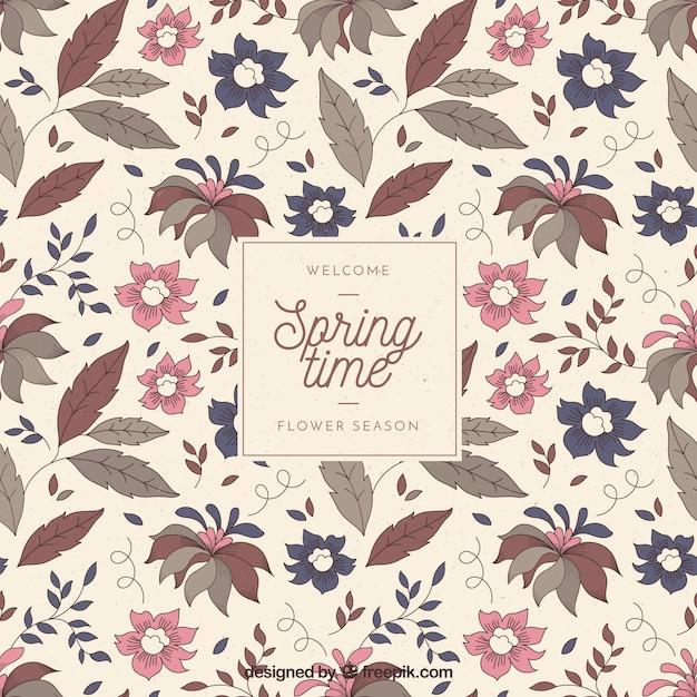 Vintage spring background Free Vector